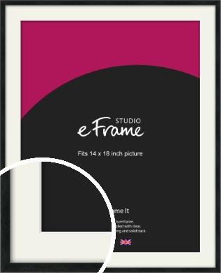 Sharp Line Black Picture Frame & Mount, 14x18