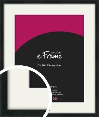 Sharp Line Black Picture Frame & Mount, 20x25cm (8x10