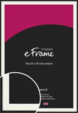 Sharp Line Black Picture Frame & Mount, 24x36