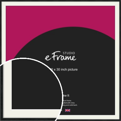 Sharp Line Black Picture Frame & Mount, 30x30