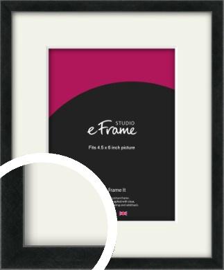 Sharp Line Black Picture Frame & Mount, 4.5x6