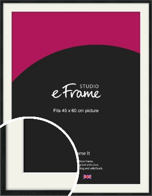 Sharp Line Black Picture Frame & Mount, 45x60cm (VRMP-A031-M-45x60cm)