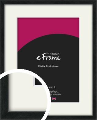 Sharp Line Black Picture Frame & Mount, 6x8