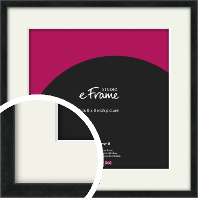 Sharp Line Black Picture Frame & Mount, 8x8