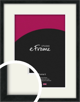 Sharp Line Black Picture Frame & Mount (VRMP-A031-M)