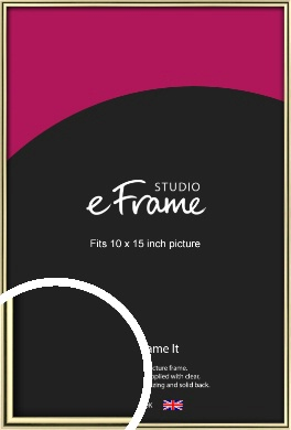 Lustrous Gold Picture Frame, 10x15