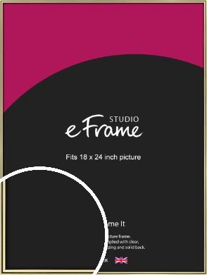 Lustrous Gold Picture Frame, 18x24