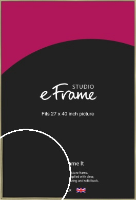 Lustrous Gold Picture Frame, 27x40