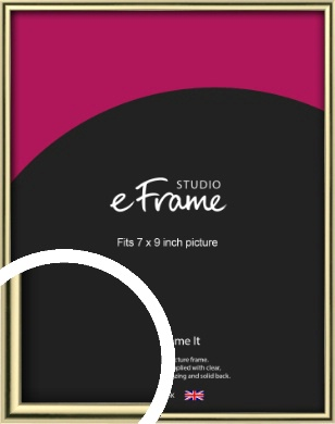 Lustrous Gold Picture Frame, 7x9