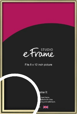 Lustrous Gold Picture Frame, 8x12