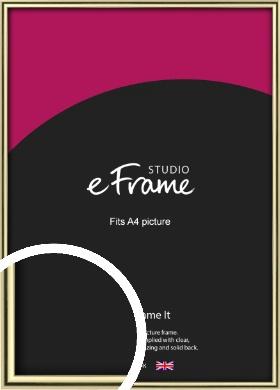 Lustrous Gold Picture Frame, A4 (210x297mm) (VRMP-A032-A4)