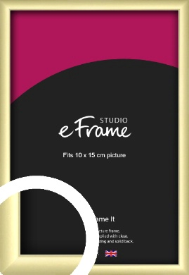 Modern Flawless Gold Picture Frame, 10x15cm (4x6