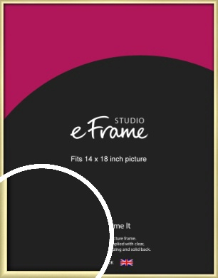 Modern Flawless Gold Picture Frame, 14x18