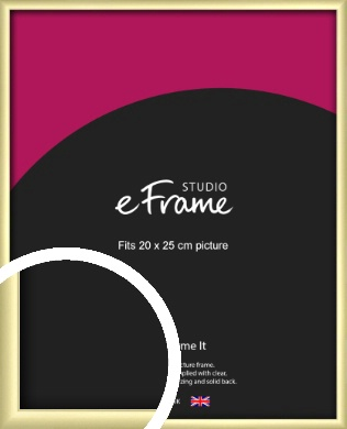 Modern Flawless Gold Picture Frame, 20x25cm (8x10