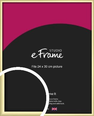 Modern Flawless Gold Picture Frame, 24x30cm (VRMP-A033-24x30cm)