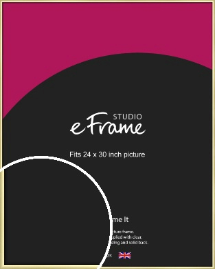 Modern Flawless Gold Picture Frame, 24x30