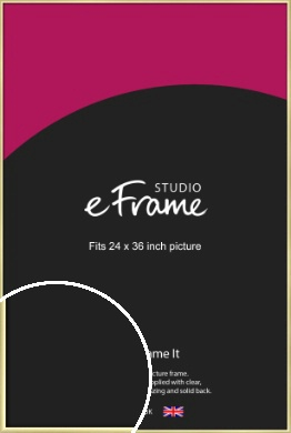 Modern Flawless Gold Picture Frame, 24x36