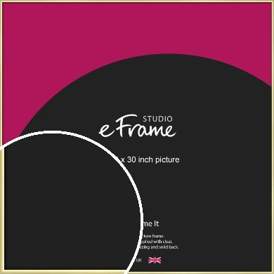 Modern Flawless Gold Picture Frame, 30x30
