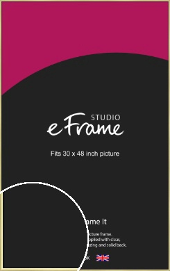 Modern Flawless Gold Picture Frame, 30x48