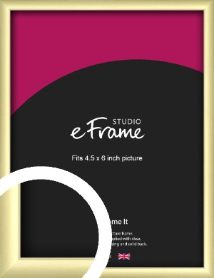 Modern Flawless Gold Picture Frame, 4.5x6
