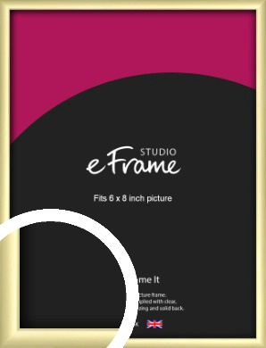 Modern Flawless Gold Picture Frame, 6x8