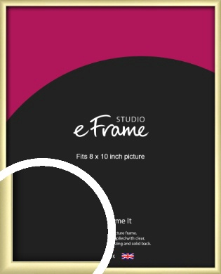 Modern Flawless Gold Picture Frame, 8x10