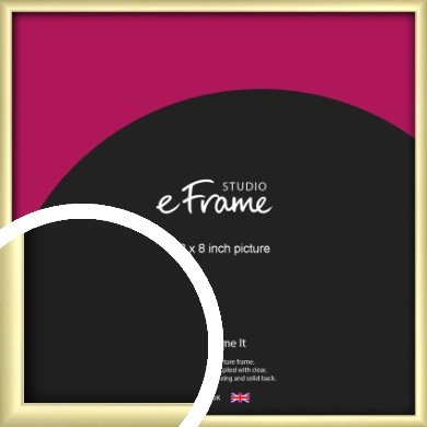 Modern Flawless Gold Picture Frame, 8x8