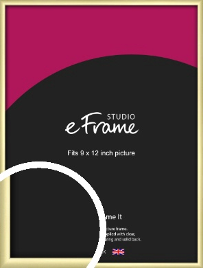 Modern Flawless Gold Picture Frame, 9x12