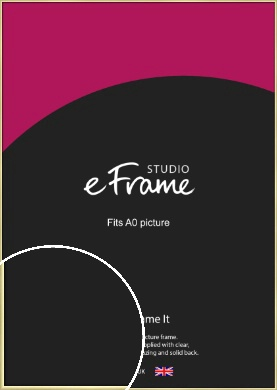 Modern Flawless Gold Picture Frame, A0 (841x1189mm) (VRMP-A033-A0)