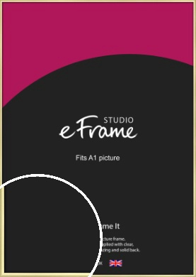 Modern Flawless Gold Picture Frame, A1 (594x841mm) (VRMP-A033-A1)