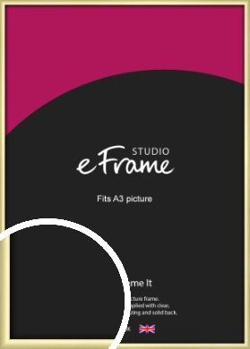 Modern Flawless Gold Picture Frame, A3 (297x420mm) (VRMP-A033-A3)