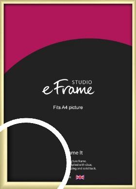 Modern Flawless Gold Picture Frame, A4 (210x297mm) (VRMP-A033-A4)