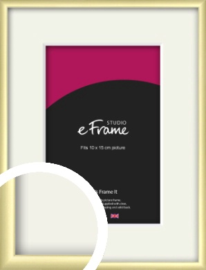 Modern Flawless Gold Picture Frame & Mount, 10x15cm (4x6