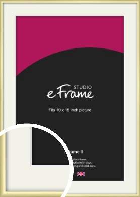 Modern Flawless Gold Picture Frame & Mount, 10x15