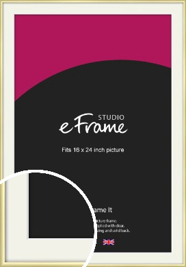 Modern Flawless Gold Picture Frame & Mount, 16x24