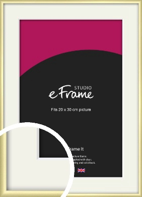 Modern Flawless Gold Picture Frame & Mount, 20x30cm (8x12