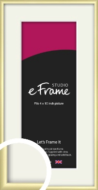 Modern Flawless Gold Picture Frame & Mount, 4x10