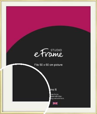 Modern Flawless Gold Picture Frame & Mount, 50x60cm (VRMP-A033-M-50x60cm)