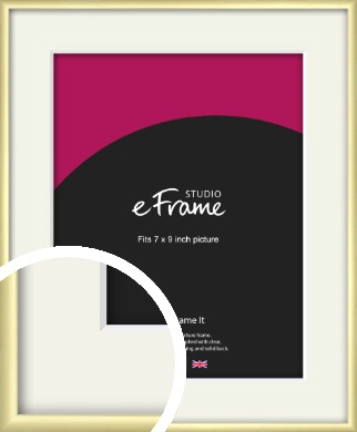 Modern Flawless Gold Picture Frame & Mount, 7x9