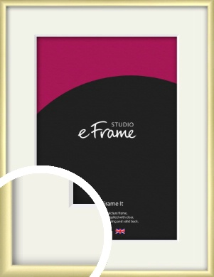 Modern Flawless Gold Picture Frame & Mount (VRMP-A033-M)