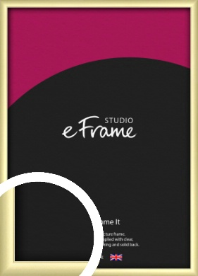 Modern Flawless Gold Picture Frame (VRMP-A033)