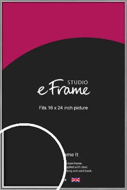 Polished Chrome Effect Silver Picture Frame, 16x24