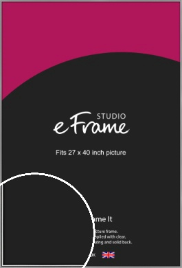 Polished Chrome Effect Silver Picture Frame, 27x40