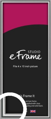 Polished Chrome Effect Silver Picture Frame, 4x10