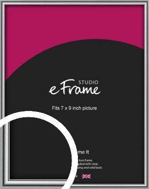 Polished Chrome Effect Silver Picture Frame, 7x9