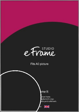 Polished Chrome Effect Silver Picture Frame, A0 (841x1189mm) (VRMP-A034-A0)