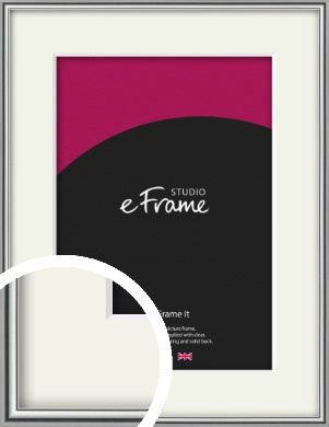 Polished Chrome Effect Silver Picture Frame & Mount (VRMP-A034-M)