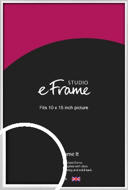 Contemporary Silver Picture Frame, 10x15