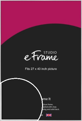 Contemporary Silver Picture Frame, 27x40