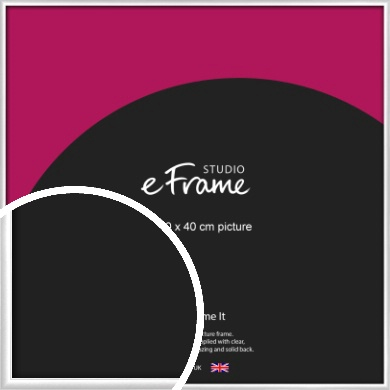 Contemporary Silver Picture Frame, 40x40cm (VRMP-A035-40x40cm)